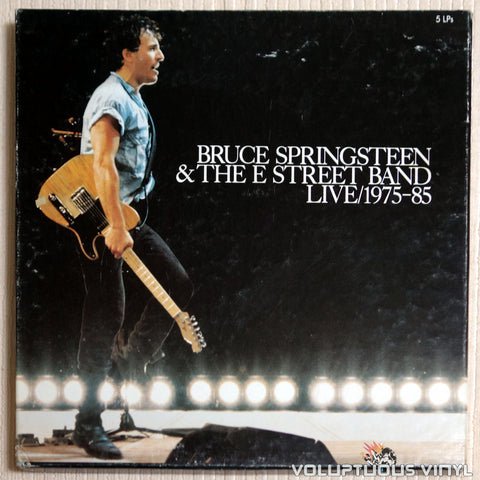 Bruce Springsteen & The E-Street Band ‎– Live / 1975-85 - Vinyl Record - Front Cover