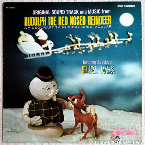 Burl Ives ‎– Original Sound Track And Music From Rudolph The Red Nosed Reindeer - Vinyl Record - Front Cover