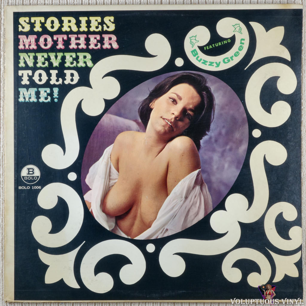 Buzzy Greene ‎– Stories Mother Never Told Me! vinyl record front cover