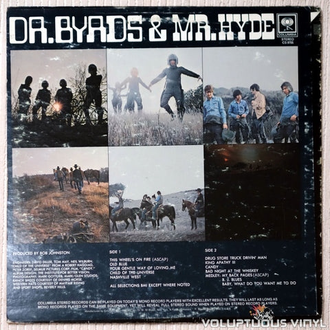 The Byrds ‎– Dr. Byrds & Mr. Hyde - Vinyl Record - Back Cover