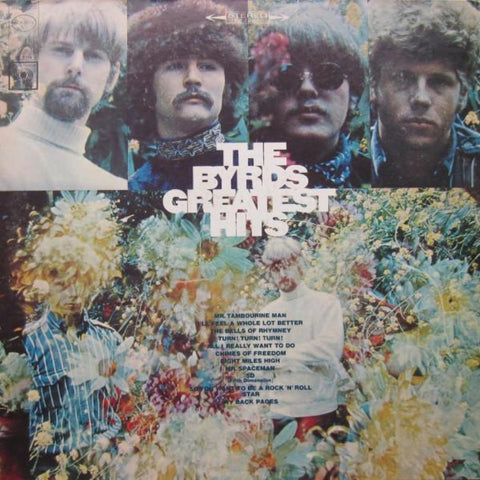 The Byrds ‎– Greatest Hits vinyl record front cover