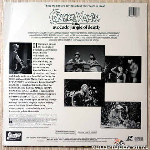 Cannibal Women in the Avocado Jungle of Death - LaserDisc - Back Cover