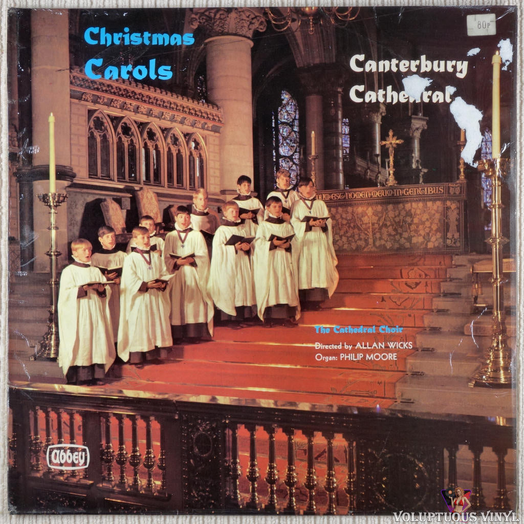 Canterbury Cathedral Choir ‎– Christmas Carols At Canterbury Cathedral vinyl record front cover