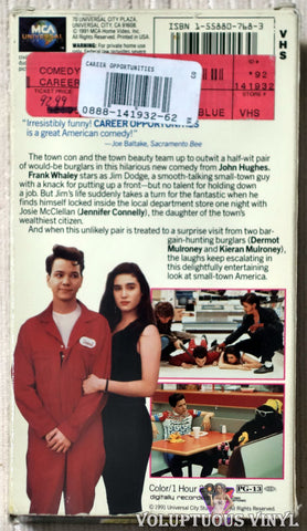 Career Opportunities VHS tape back cover
