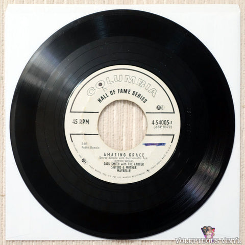 Carl Smith With The Carter Sisters & Mother Maybelle ‎– Softly And Tenderly / Amazing Grace vinyl record