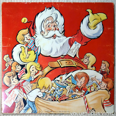 The Caroleers ‎– Santa Claus Is Coming To Town vinyl record back cover