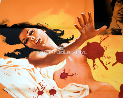 The Case of the Bloody Iris Italian movie poster Edwige Fenech nude