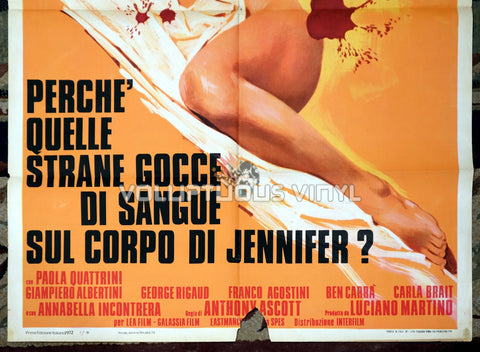 The Case of the Bloody Iris Italian movie poster Edwige Fenech nude bottom half