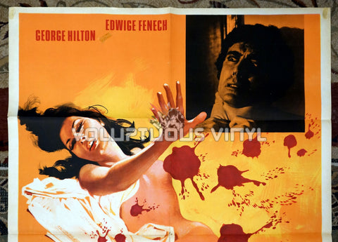 The Case of the Bloody Iris Italian movie poster Edwige Fenech nude top half