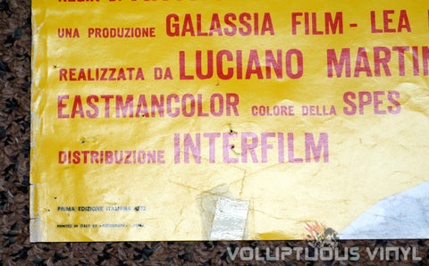 The Case of the Bloody Iris - Italian Soggetto - Movie Poster - Bottom Left Corner
