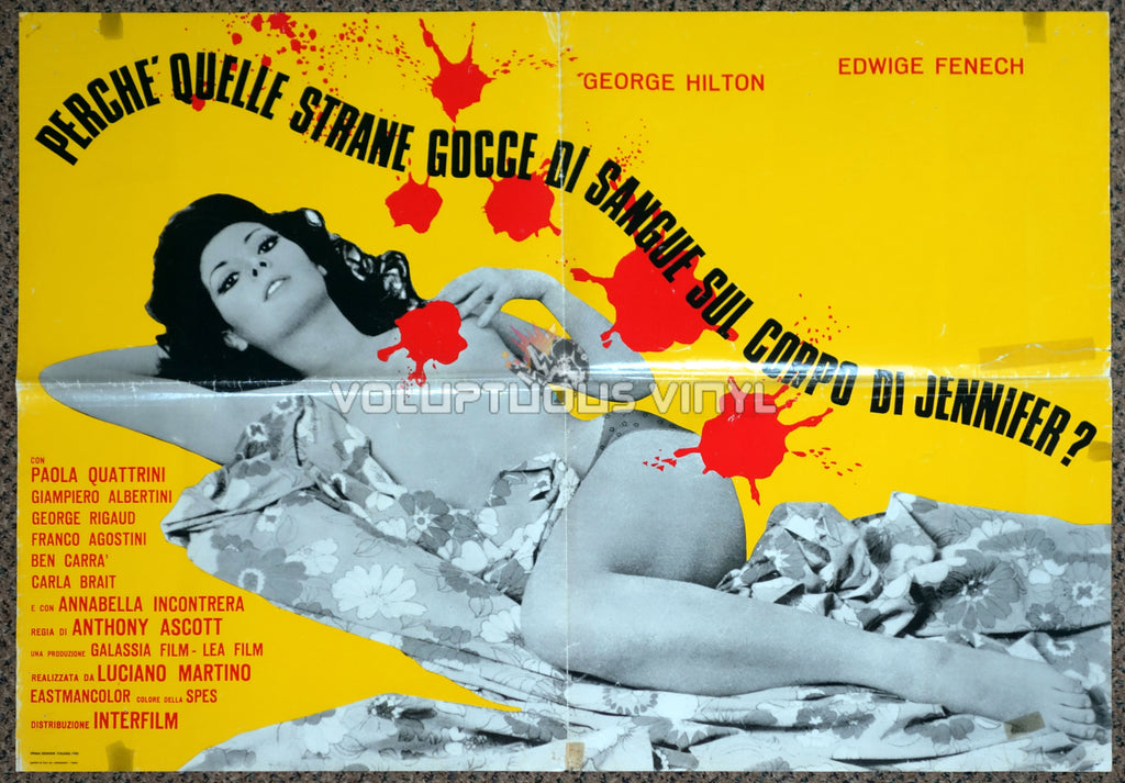 The Case of the Bloody Iris - Italian Soggetto - Movie Poster - Edwige Fenech Nude