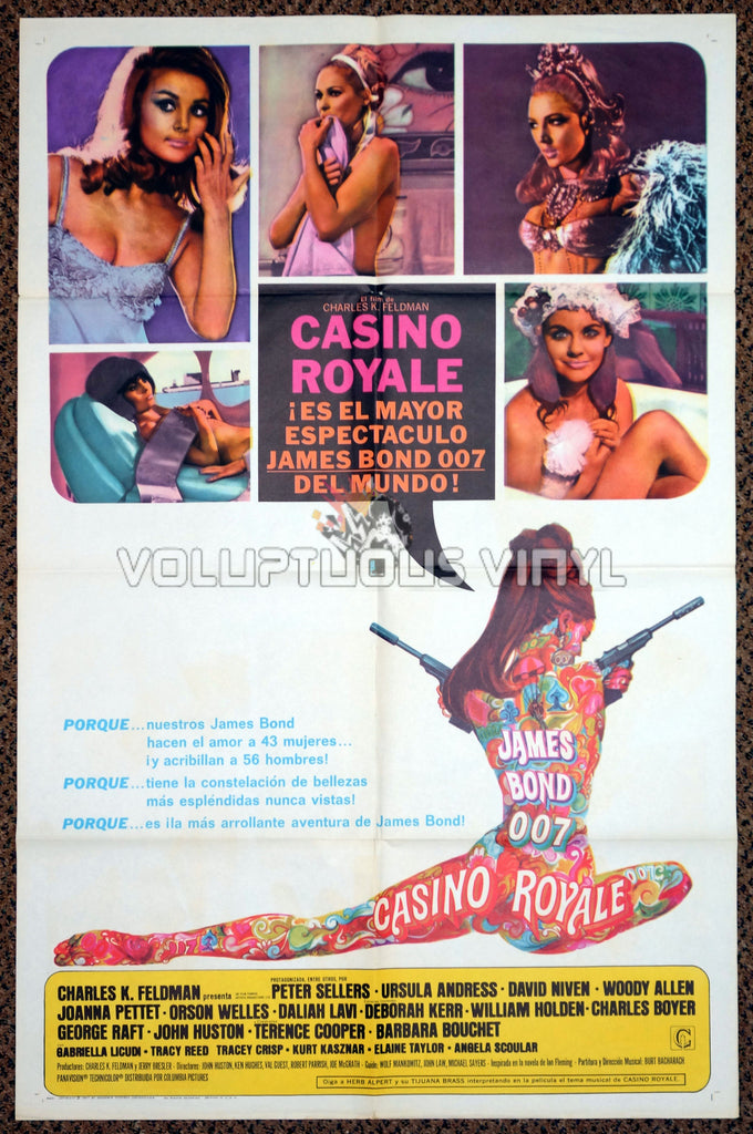 Casino Royale 1967 US / Spanish One Sheet Poster - Sexy Bond Girl Art
