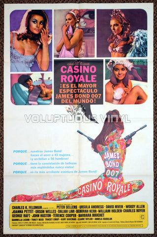 Casino Royale (1967) - US / Spanish 1-Sheet - Unique Sexy Bond Girl Poster