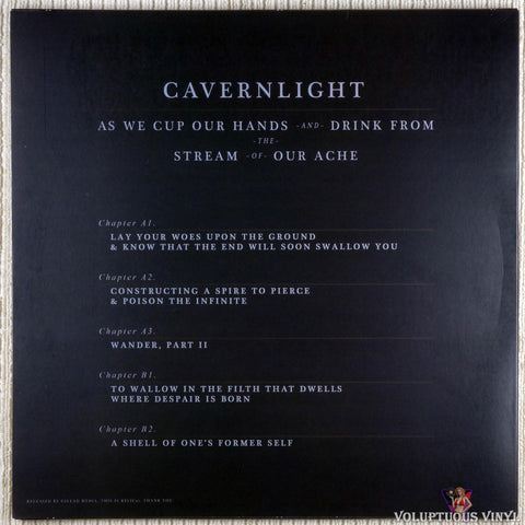 Cavernlight ‎– As We Cup Our Hands And Drink From The Stream Of Our Ache vinyl record back cover