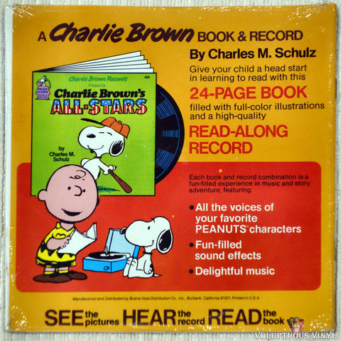 Charles M. Schulz ‎– It's Your First Kiss, Charlie Brown vinyl record back cover