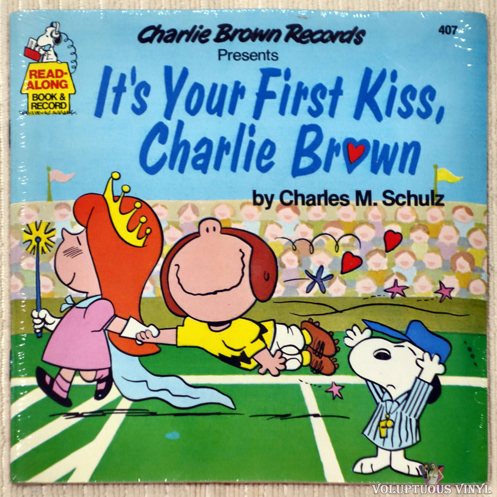 Charles M. Schulz ‎– It's Your First Kiss, Charlie Brown vinyl record front cover