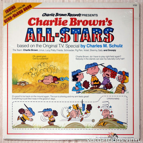 Charles M. Schulz ‎– Charlie Brown's All-Stars - Vinyl - Back Cover