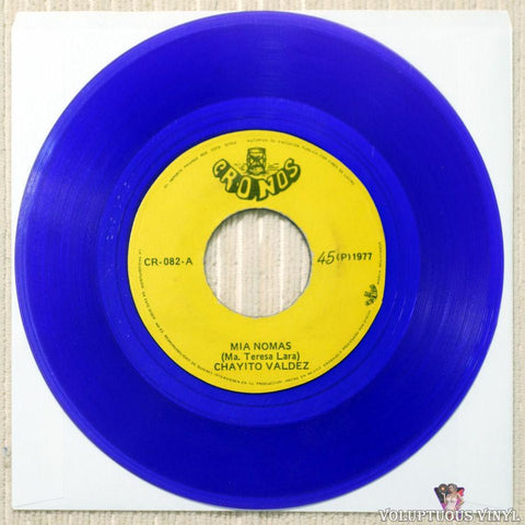 "Chayito Valdez ‎– Mia Nomas / Una Sola Caida (1977) 7"" Single, Purple Vinyl, Mexican Press"