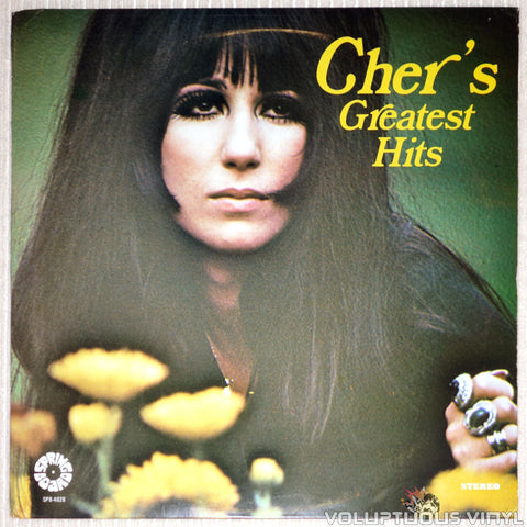 Cher ‎– Cher's Greatest Hits - Vinyl Record - Front Cover
