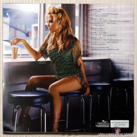 Christina Milian ‎– It's About Time vinyl record back cover