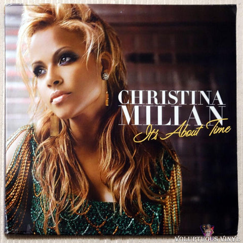 Christina Milian ‎– It's About Time vinyl record front cover