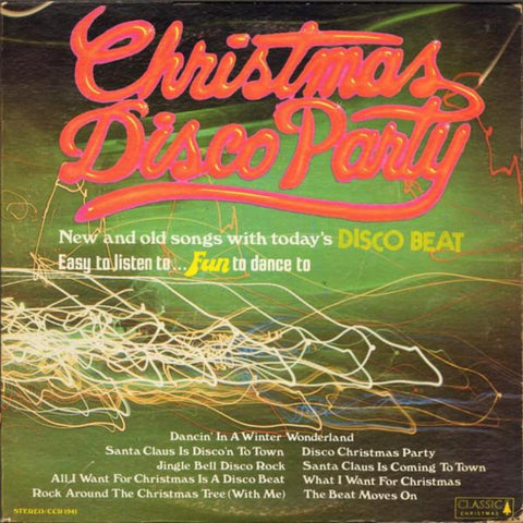 Unknown Artist ‎– Christmas Disco Party vinyl record front cover