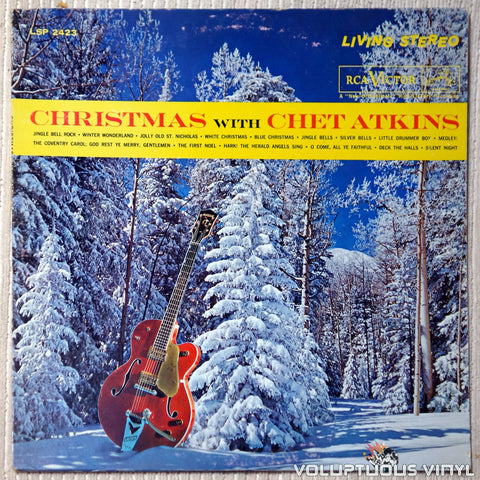Chet Atkins ‎– Christmas With Chet Atkins vinyl record front cover