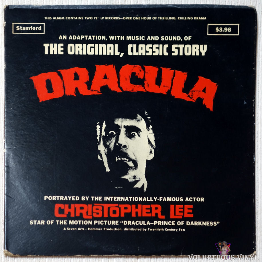 Christopher Lee ‎– Dracula - The Original Classic Story vinyl record front cover