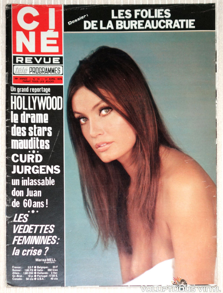Cine Revue - Issue 14 April 1, 1976 - Marisa Mell Cover