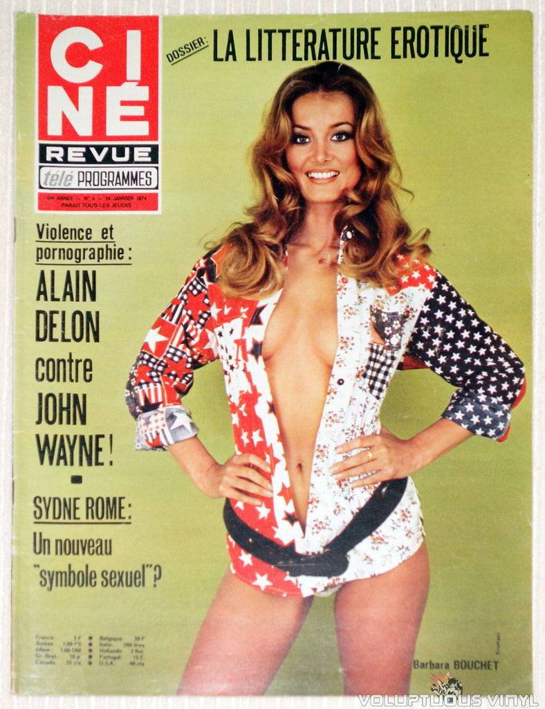 Cine Revue Tele Programmes - Issue 4 January 24, 1974 - Barbara Bouchet Cover