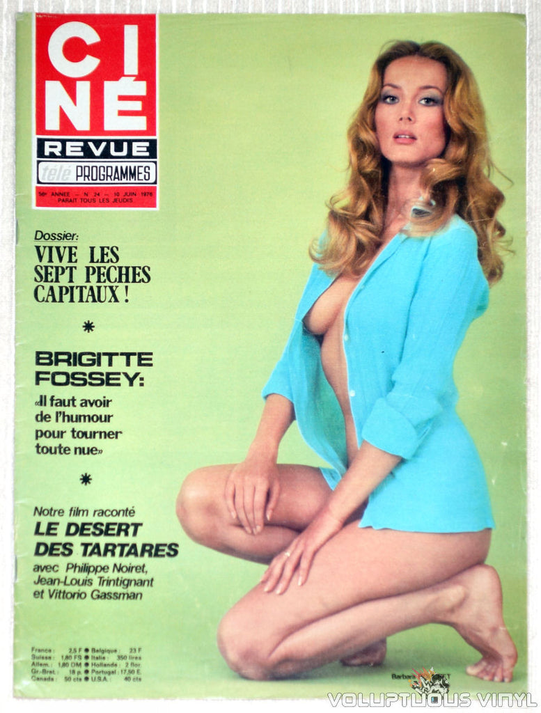 Cine Revue Tele Programmes - Issue 24 June 10, 1976 - Barbara Bouchet Cover