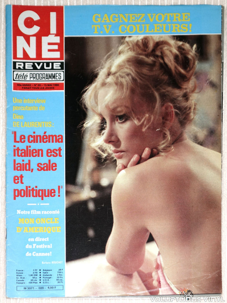 Cine Revue Tele Programmes - Issue 20 May 15, 1980 - Barbara Bouchet Cover