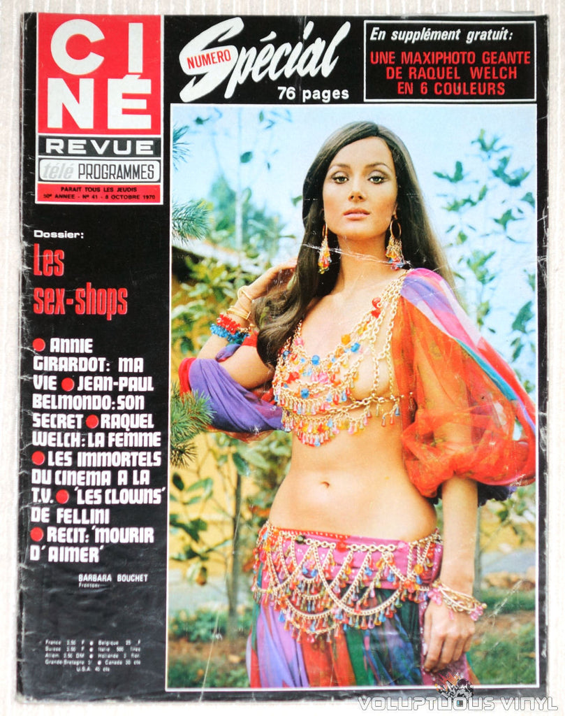 Cine Revue - Issue 41 October 6, 1970 - Barbara Bouchet Cover