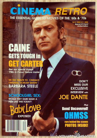 Cinema Retro Issue #11 - May 2008 - Michael Caine - Front Cover