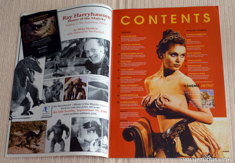 Cinema Retro Issue #12 - September 2008 - Madeline Smith - Table of Contents