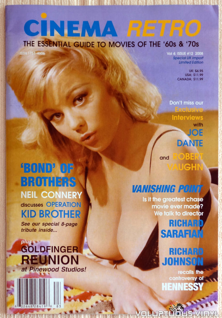 Cinema Retro Issue #12 - September 2008 - Margaret Nolan - Front Cover