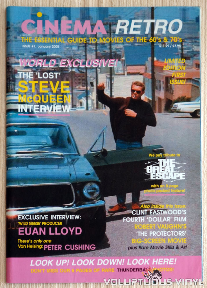 Cinema Retro Issue #1 - January 2005 - Steve McQueen - Front Cover