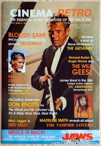Cinema Retro Issue #3 - September 2005 - Steve McQueen - Front Cover