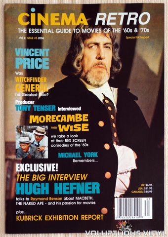 Cinema Retro Issue #5 - May 2006 - Vincent Price - Front Cover