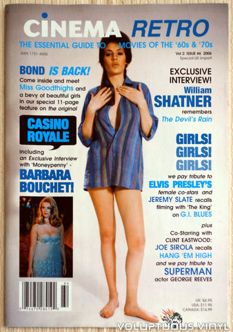 Cinema Retro Issue #6 - September 2006 - Barbara Bouchet - Front Cover