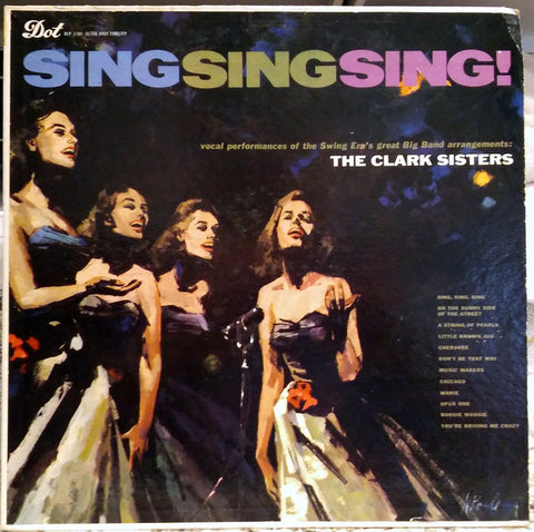 The Clark Sisters ‎– Sing Sing Sing (1958) Cheap Vinyl Record