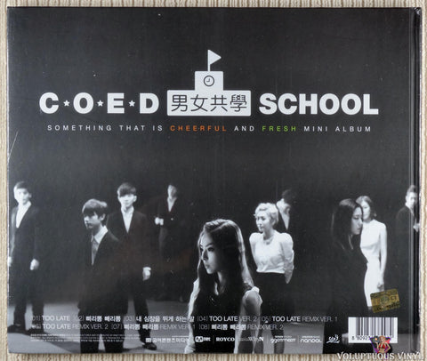 Coed School ‎– Something That Is Cheerful And Fresh CD back cover