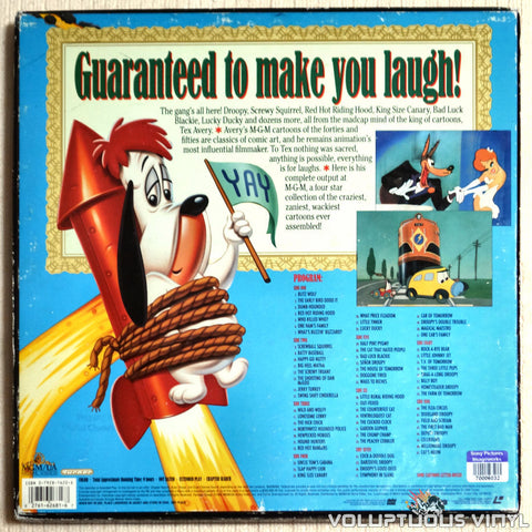 Compleat Tex Avery - LaserDisc - Back Cover