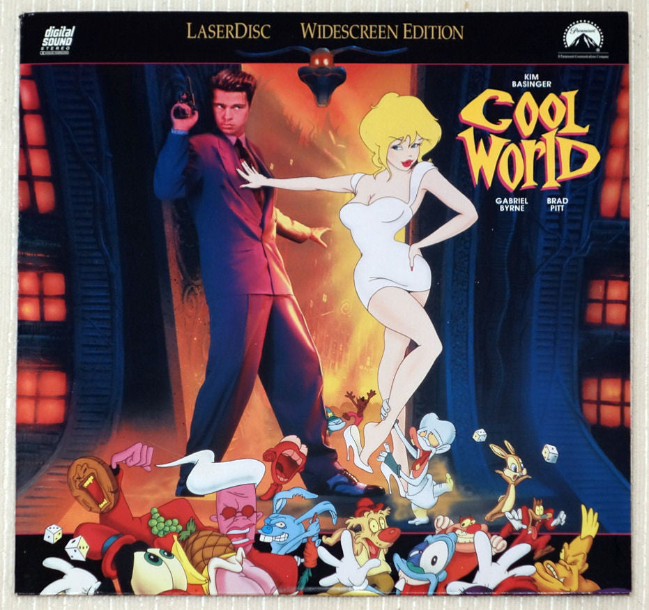 Cool World Brad Pitt Laserdisc Front Cover