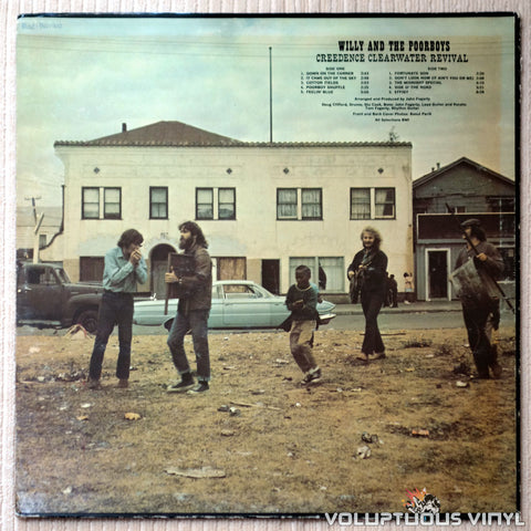 Creedence Clearwater Revival ‎– Willy And The Poor Boys - Vinyl Record - Back Cover