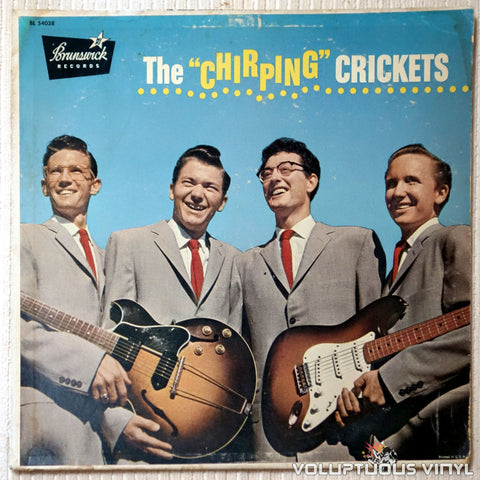 "The Crickets ‎– The ""Chirping"" Crickets - Vinyl Record - Front Cover"