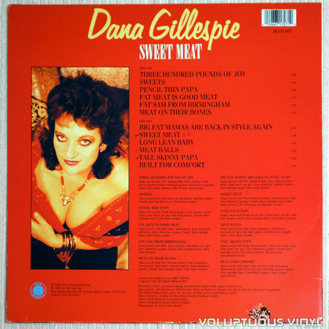 Dana Gillespie ‎– Sweet Meat - Vinyl Record - Back Cover