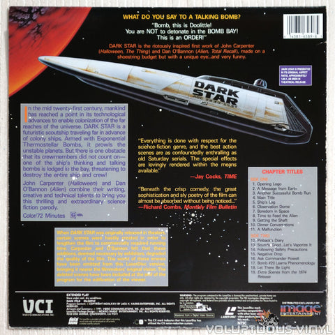 Dark Star - Laserdisc - Back Cover