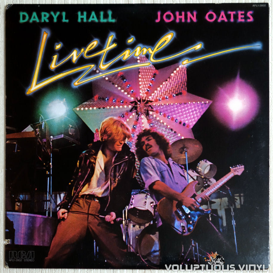 Daryl Hall & John Oates ‎– Livetime - Vinyl Record - Front Cover