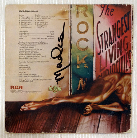 David Bowie - Diamond Dogs - Vinyl Record Back Cover
